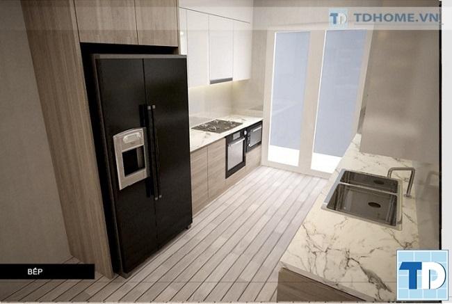 Phòng bếp hiện đại tiện nghi với nội thất cao cấp