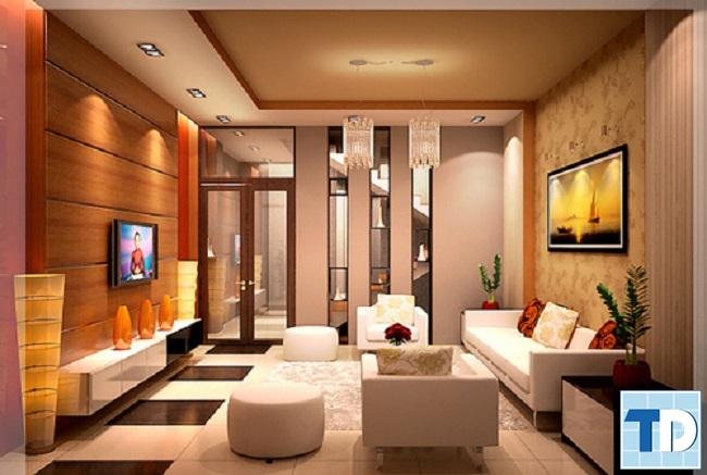 Mẫu nội thất nhà phố cao cấp
