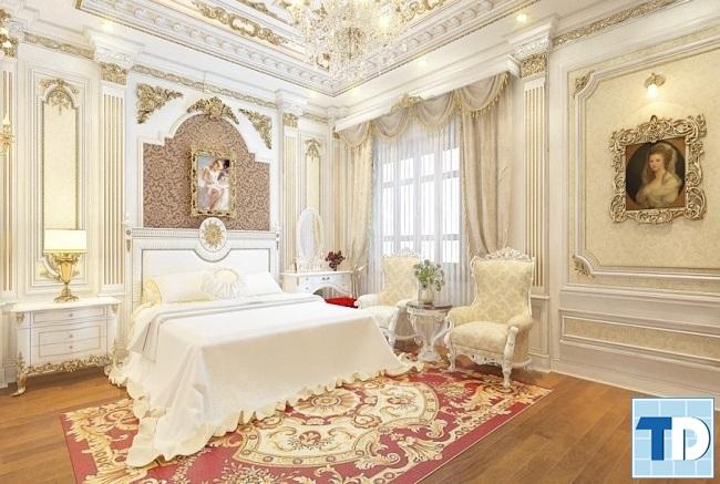 Góc tường nhọn tránh chiếu vào cửa phòng ngủ