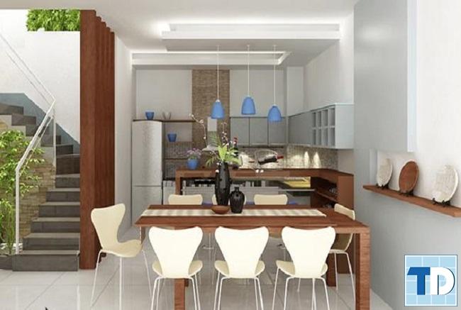 Phòng bếp nhà phố tiện nghi cao cấp