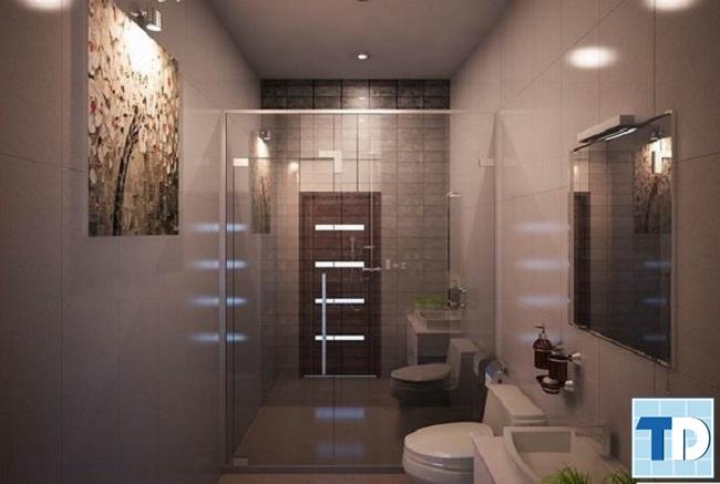 Phòng tắm với thiết bị cao cấp hiện đại