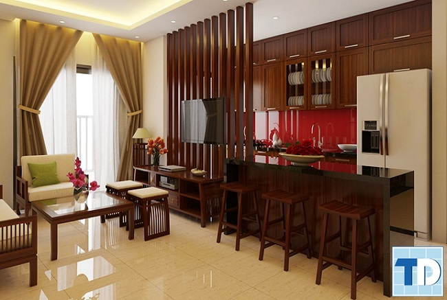 Phòng khách gỗ hiện đại đẹp