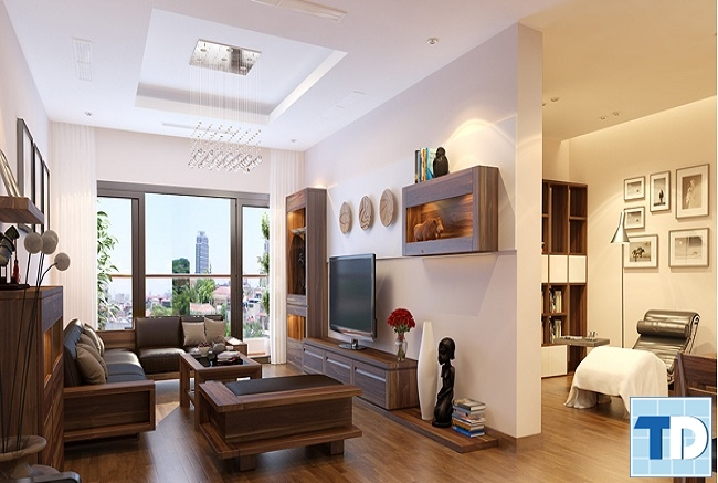 Không gian nội thất gỗ hiện đại