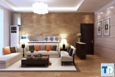 Mẫu thiết kế nội thất chung cư Linh Đàm tinh tế thanh lịch -  nhà chị Nga