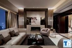 Mẫu thiết kế nội thất chung cư nhỏ cao cấp - nhà chị Hằng Golden Land