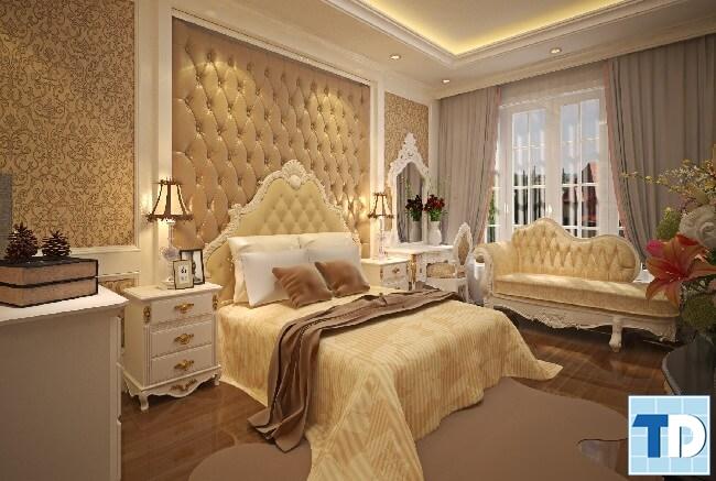 Phòng ngủ master sang trọng, lãng mạn
