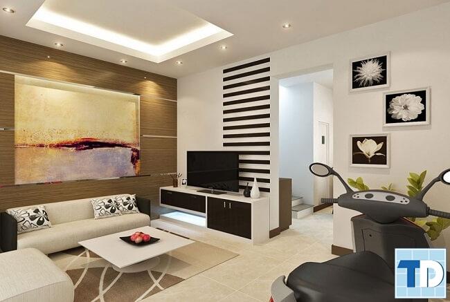 Phòng khách hiện đại trẻ trung