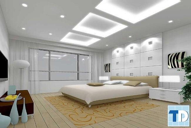 Phòng ngủ master sang trọng, thông thoáng