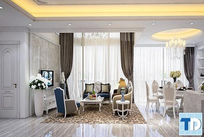 Thiết kế nội thất chung cư tân cổ điển CT3 Cầu Diễn -  nhà chị Lan