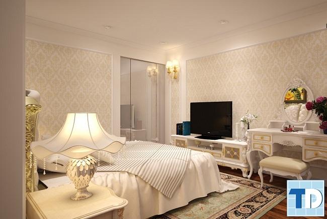 Phòng ngủ master lãng mạn ấm áp