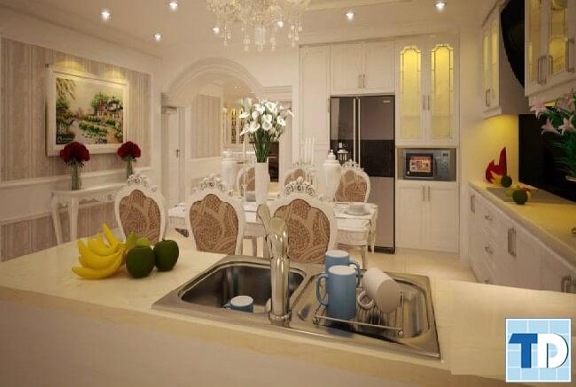 Phòng bếp tân cổ điển sang trọng hiện đại