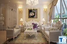 Thiết kế nội thất căn hộ Vinhomes tân cổ điển sang trọng -  nhà anh Cường