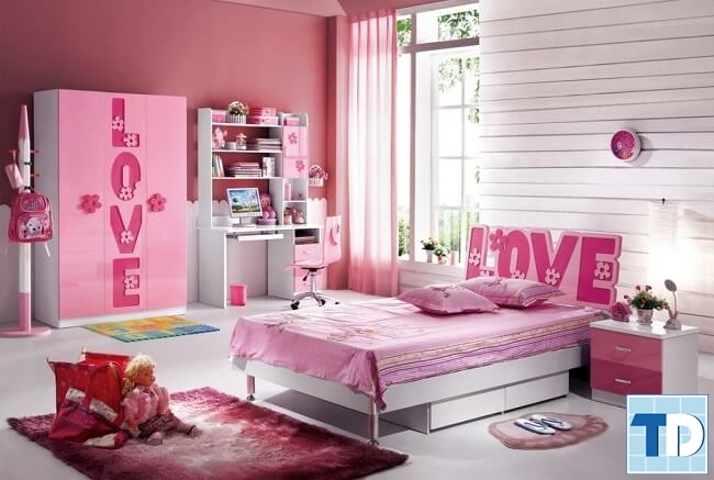 Phòng ngủ bé gái nhỏ