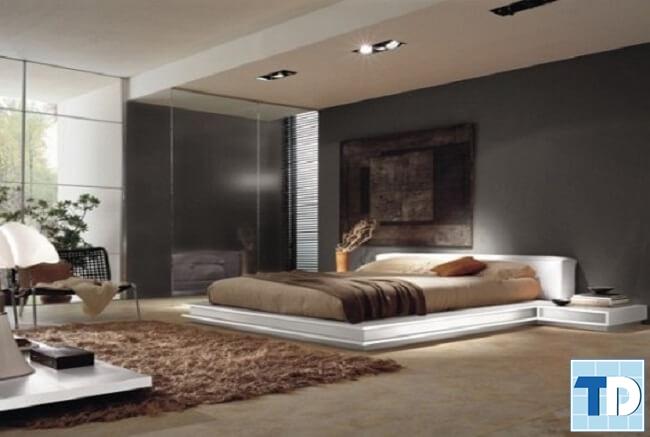 Phòng ngủ master nhẹ nhàng trầm ấm