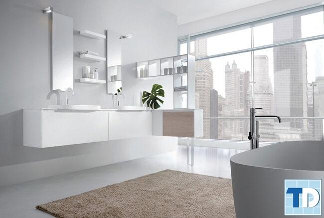 Phòng tắm cao cấp với các thiết bị hiện đại