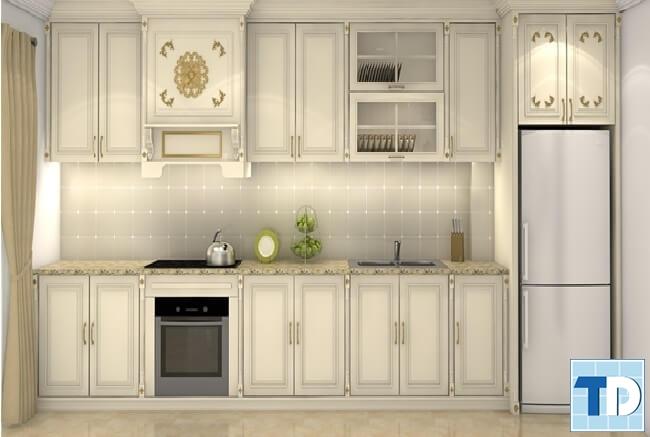 Phòng bếp tân cổ điển cao cấp tiện nghi