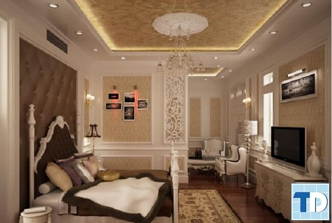 Phòng ngủ con trai với tone màu trầm ấm đơn giản