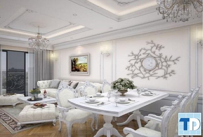 Thiết kế căn hộ Vinhomes Royal City tân cổ điển lịch lãm - nhà anh Hòa
