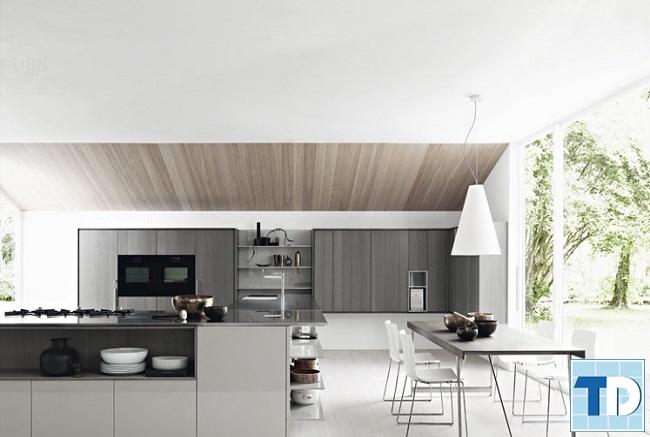 Không gian bếp đơn giản tinh tế
