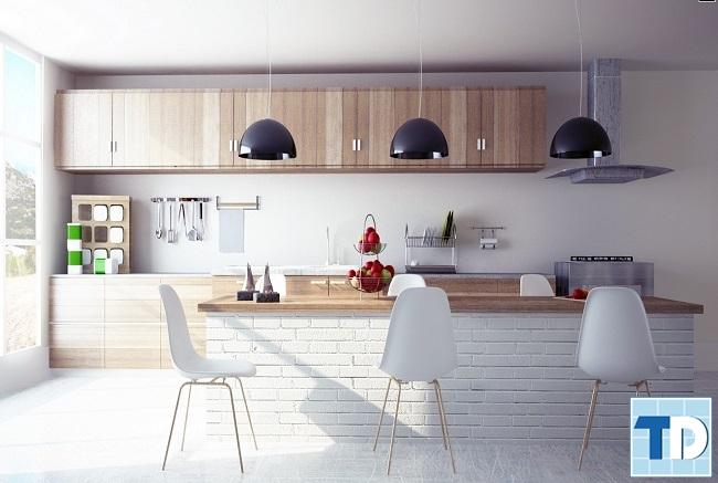 Mẫu phòng bếp sáng trang nhã
