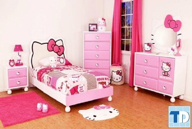Phòng cô con gái nhỏ xinh