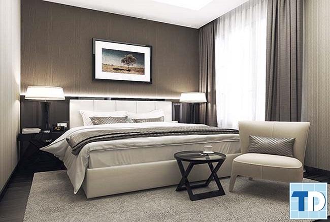 Phòng ngủ master sang trọng lãng mạn