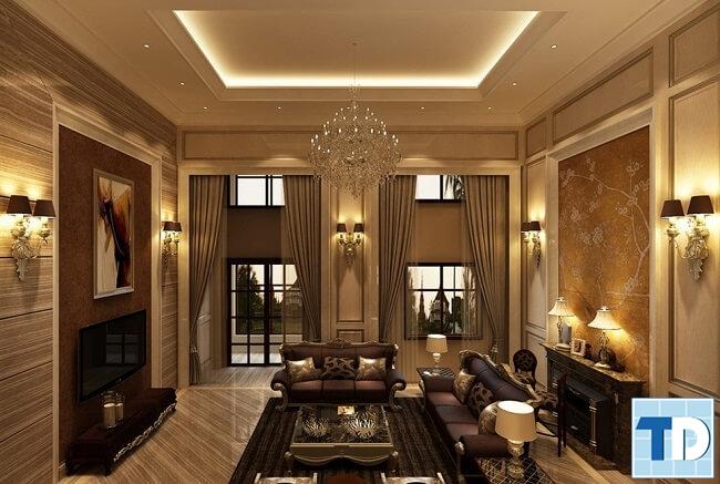 Thiết kế nội thất căn hộ Riverside Garden tân cổ điển