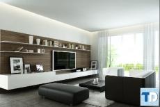 Thiết kế nội thất chung cư Golden West 80m2 - nhà chị Hằng