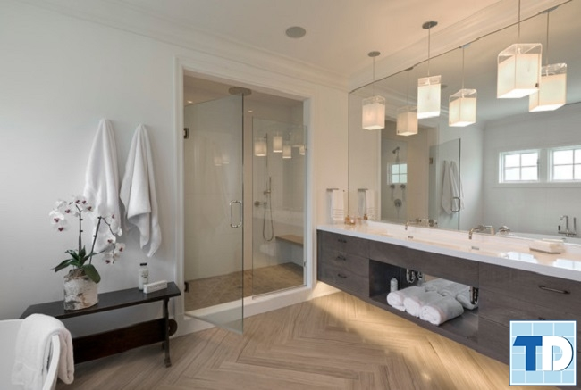Phòng tắm tiện nghi với thiết bị cao cấp