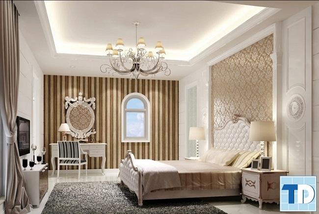 Phòng ngủ con gái thanh lịch