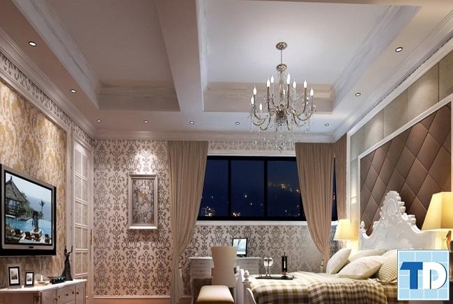 Phòng ngủ master lãng mạn tinh tế