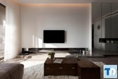 Thiết kế căn hộ chung cư Rainbow Linh Đàm nhỏ đẹp tiện nghi - nhà chị Hoa