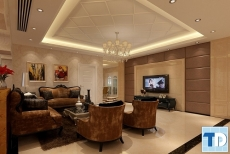 Thiết kế căn hộ One 18 Ngọc Lâm tân cổ điển quyền quý - nhà chị Ngọc