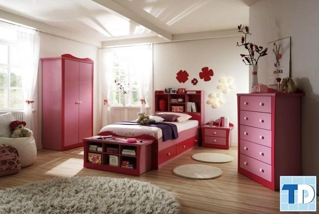 Phòng ngủ con gái nhỏ đáng yêu, ngộ nghĩnh