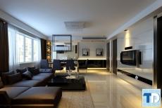 Thiết kế nội thất căn hộ Hyundai Hillstate đẳng cấp - nhà anh Thịnh
