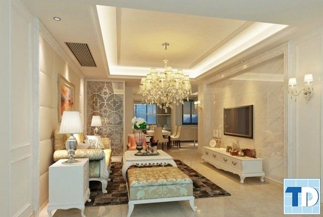 Thiết kế nội thất căn hộ Riverside Garden tân cổ điển cao cấp - nhà chị Huệ