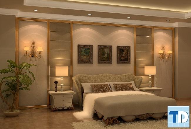 Phòng ngủ master trầm ấmPhòng ngủ con trai