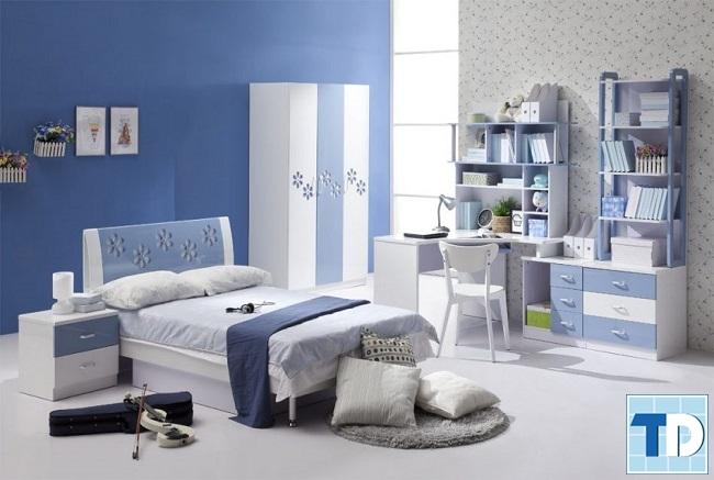 Phòng ngủ con trai đơn giản, cá tính