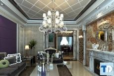 Thiết kế nội thất chung cư Tràng An Complex  tân cổ điển - nhà chị Vy
