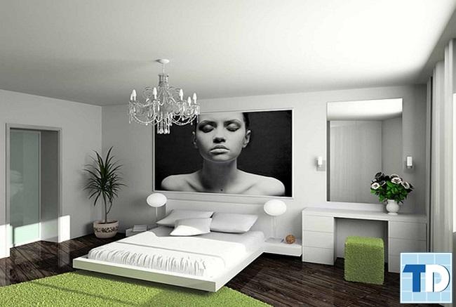 Phòng ngủ con gái trẻ trung cá tính