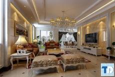 Thiết kế nội thất chung cư Ruby Towers tân cổ điển - nhà anh Quang