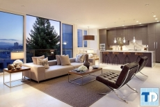 Căn hộ nội thất chung cư Vinhomes Sky Lake hiện đại - nhà chị Thúy