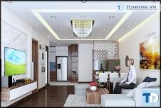 Thiết kế căn hộ 1608 B2 Chung cư B1B2 Twin Tower Linh Đàm -  nhà anh Đạt