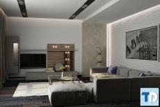 Thiết kế nội thất căn hộ chung cư Ruby Towers ấn tượng - nhà chị Thùy