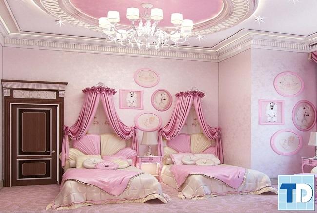 Phòng ngủ 2 cô con gái nhỏ