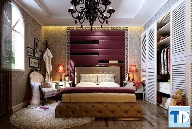 Phòng ngủ master đẹp lộng lẫy