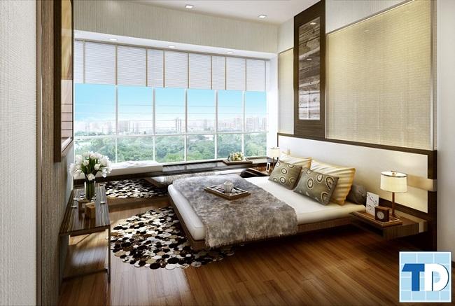 Phòng ngủ master trầm ấm lịch lãm