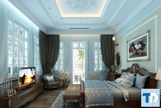 Phòng ngủ master đầm ấm và lãng mạn