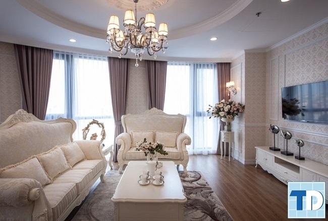 Thiết kế nội thất tân cổ điển căn hộ chung cư Ruby Towers