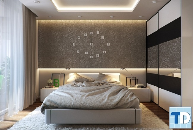 Phòng ngủ con trai lịch lãm